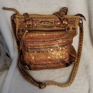 Unionbay Crossbody purse with colorful sequins